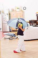 child, baby, girl, childhood, toy, umbrella