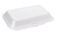 Styrofoam Box on White Background