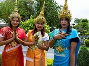 Young people with a traditional dress  Bangkok, Thailand