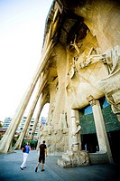 La Sagrada Familia of Barcelona, by Gaudi Spain  Modernist arquitecture  Passion Facade