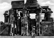 africa, egitto, luxor, il tempio kom ombo, 1920 1930