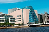 National Convention Centre, on River Liffey, Dublin, Ireland