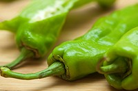 italian green peppers. Valencia. Spain