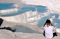Turkey- PAMUKKALE, meaning ´cotton castle´ in Turkish, is a natural site in Denizli Province in southwestern Turkey  The city contains hot springs and...
