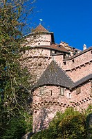 The historic castle of Haut-Koenigsbourg Hochkönigsburg, Alsace, France, Europe