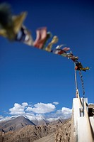 Prayer flags at a Buddhist monastery
