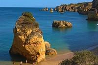 Lagos, Dona Ana Beach, Praia da Dona Ana, Algarve, Portugal, Europe.