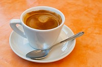 Italy, Sicily, Acireale  A simple cup of cafe Americano