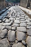 Street in Pompeya  Italy
