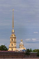 the fine golden spire of the Cathedral of St Peter and St Paul