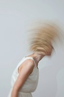 Woman shaking her hair