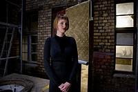 Woman in her studio