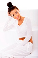 Lady In White, Health And Wellbeing Concept