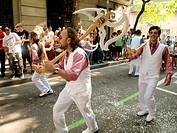 Popular festival of choirs humorous held around Pentecost. Barceloneta neighborhood, Barcelona, Catalonia, Spain.