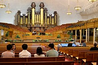 SALT LAKE CITY UTAH USA Tabernacle at the Mormon Temple