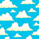 Seamless background with clouds 9 _ picture illustration.
