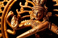 Statue of indian hindu god Shiva Nataraja _ Lord of Dance close up