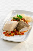 Cod with ratatouille