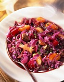 Bowl of Purple Cabbage and Beet Stew