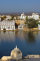 View over Pichola lake,Udaipur, Rajasthan, india