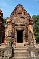 Preah Ko temple. Roluos Group. Angkor Cambodia