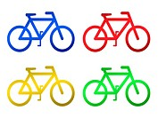 A bicycle illustration isolated against a white background