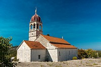 St  Ann parish church in Donji Humac on Brac island, Croatia