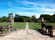Naga Steindamm Tempel Angkor Wat