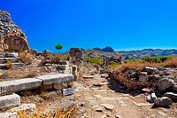 Ruins at Aspendos in Antalya, Turkey