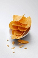Potato crisps in bowls
