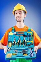 Repairman with his toolkit