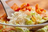 Glass noodle salad with vegetables Korea