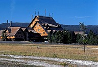 YELLOWSTONE LODGE in YELLOWSTONE NATIONAL PARK, established 1872 _ WYOMING