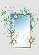 Frame with cherry blossom.