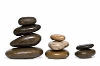Boulders in zen balance.