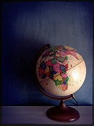 Vintage globe in an interior