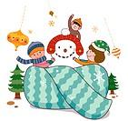 Muffler and snowmen