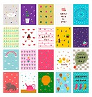 Postcards of various patterns (thumbnail)