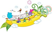Banana and children (thumbnail)