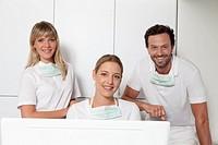 Germany, Dentist smiling, portrait