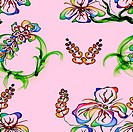 Floral Stylish Wallpaper, Seamless Pattern