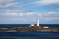St Marys Lighthouse on St Marys Island Whitley Bay North Tyneside Tyne and Wear England