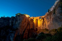 New Bridge at night, Ronda, Spain
