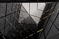 Interior building facade London UK