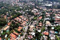 Aerial view, Vila Andrade, Jardim Morumbi, São Paulo, Brazil