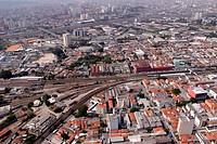 Aerial view, Street William Speers, Estação Lapa, Lapa, São Paulo, Brazil