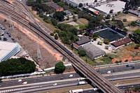 Aerial view, urban city, Lapa, São Paulo, Brazil