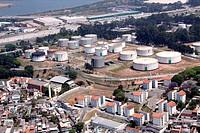 Aerial view, urban city, Highway Castelo Branco, Barueri, São Paulo, Brazil