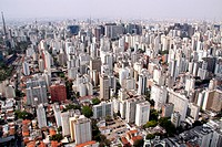 Aerial view, Avenue Rebouças, Jardim Paulista, São Paulo, Brazil