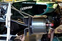 Caterham F1 Team brakes, F1 Testing Jerez de la Frontera, Spain 7_10 February 2012